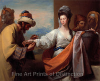 Isaac's Servant Tying the Bracelet on Rebecca's Arm by Benjamin West