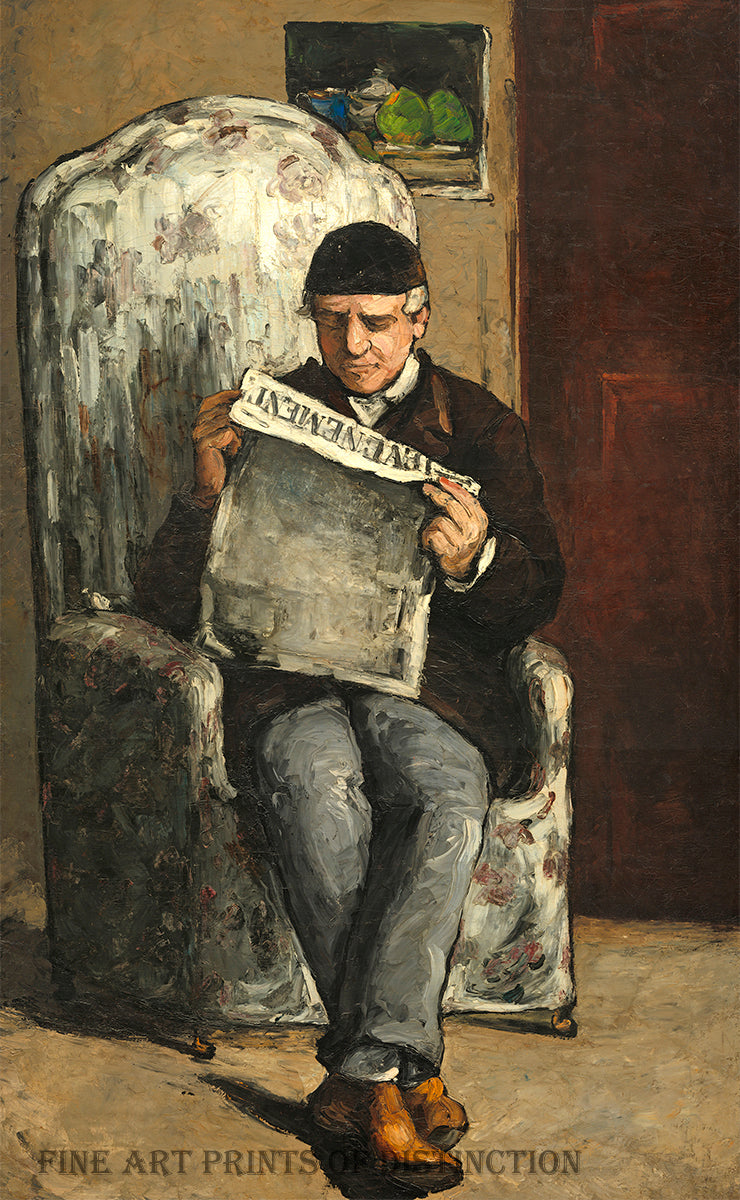 The Artist's Father painted by Paul Cezanne in 1866.