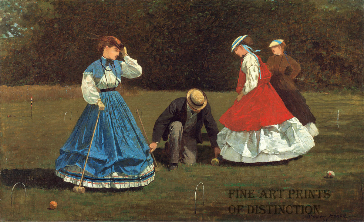 Croquet Scene painted by Winslow Homer in 1866