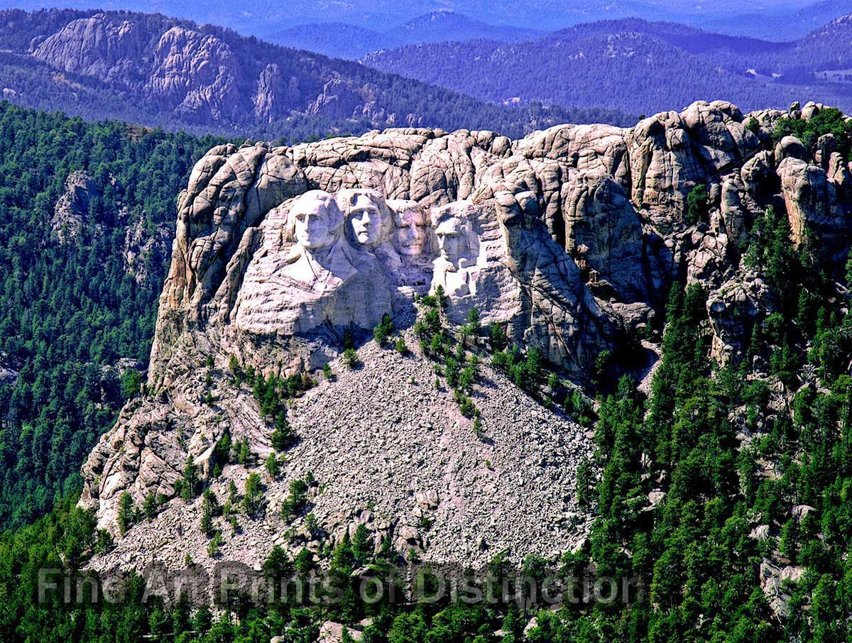 Aerial View of Mount Rushmore in South Dakota