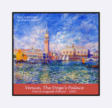 Venice, The Doge's palace painted by Pierre Auguste Renoir premium poster