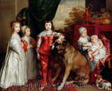 The Five Children of King Charles I by Anthony Van Dyck