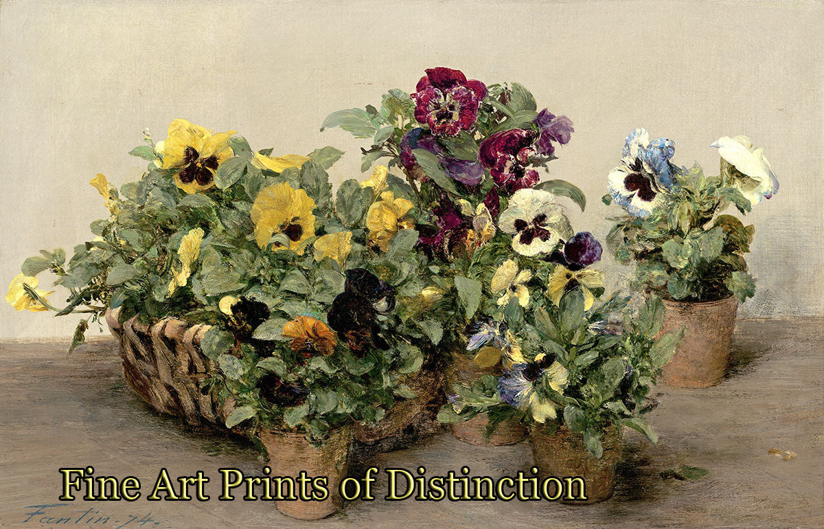 Pansies by Henri Fantin Latour Art Print