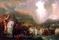 Joshua Passing the River Jordan with the Ark of the Covenant by Benjamin West Art Print