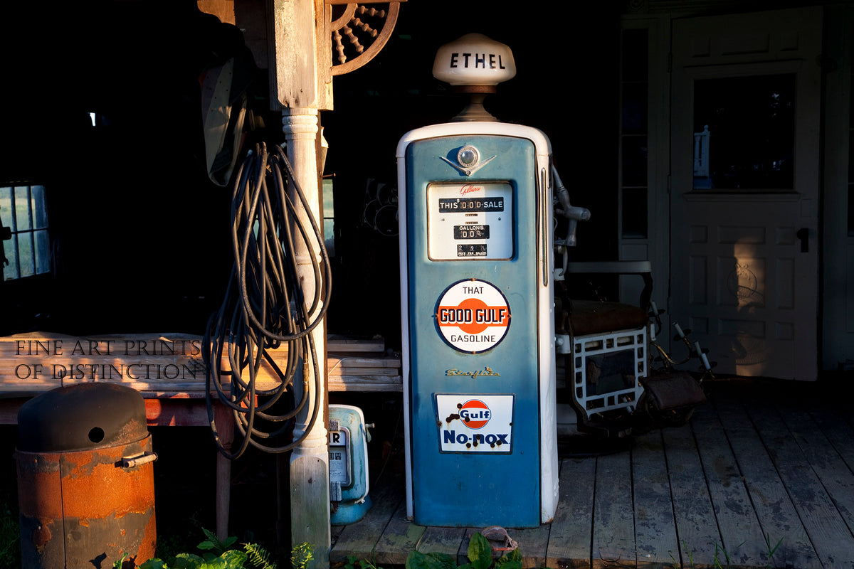 Good Gulf Ethel Gasoline Pump Premium Print