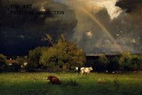 The Rainbow painted by the American artist George Inness in 1879