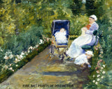 Children in a Garden or The Nurse, painted by American Artist Mary Cassatt in 1878