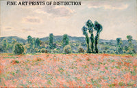 Poppy Field painted by French Impressionist painter Claude Monet in 1890