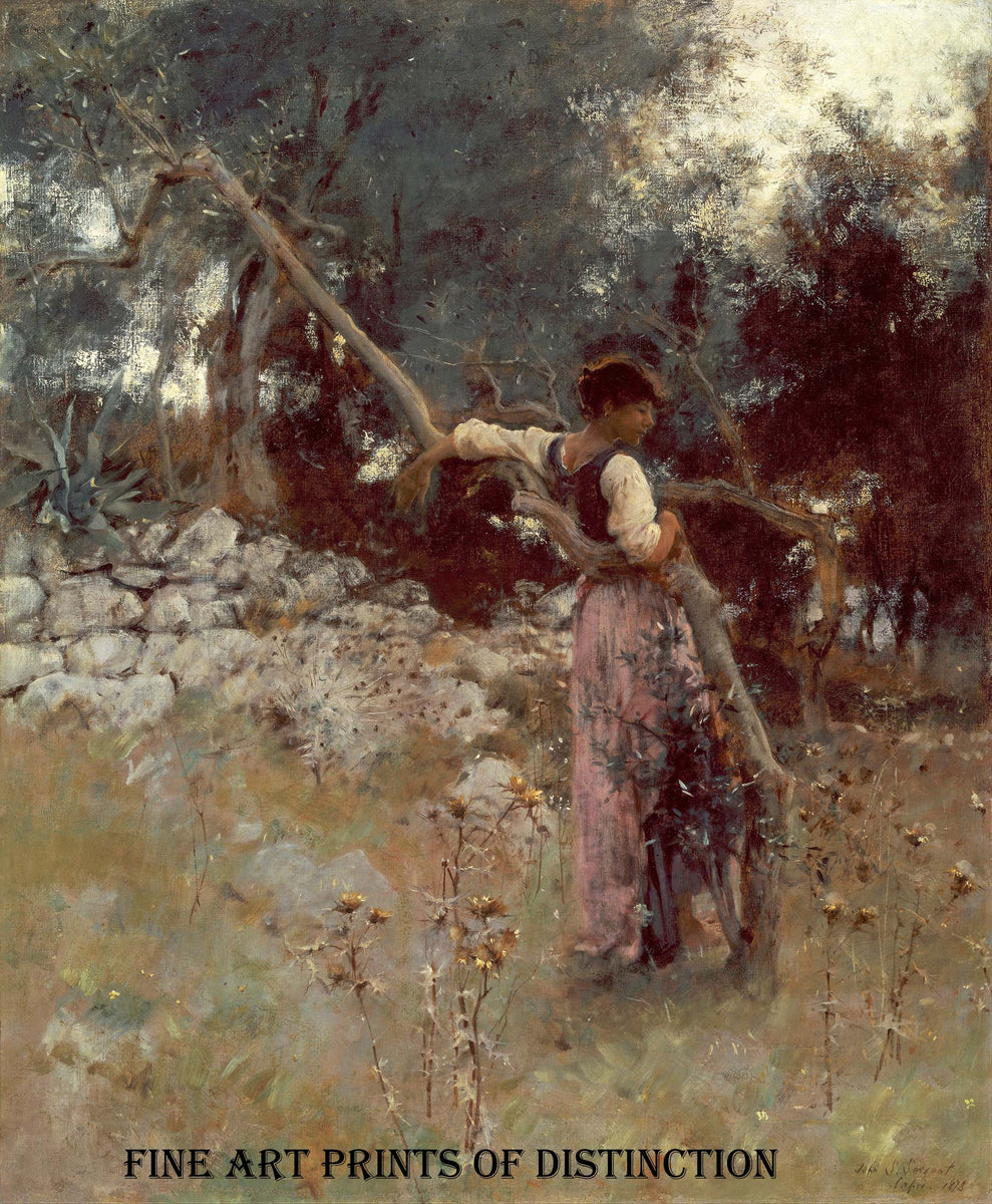 A Capriote painted by American Artist John Singer Sargent in 1878