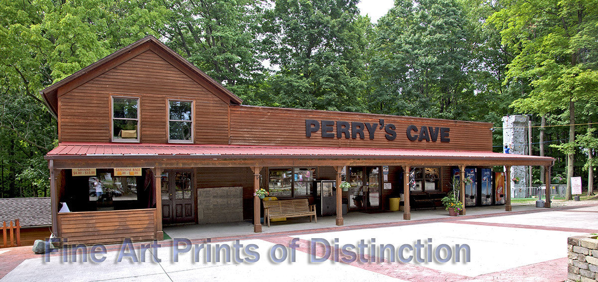 Entrance to Perry's Cave in Ohio Art Print