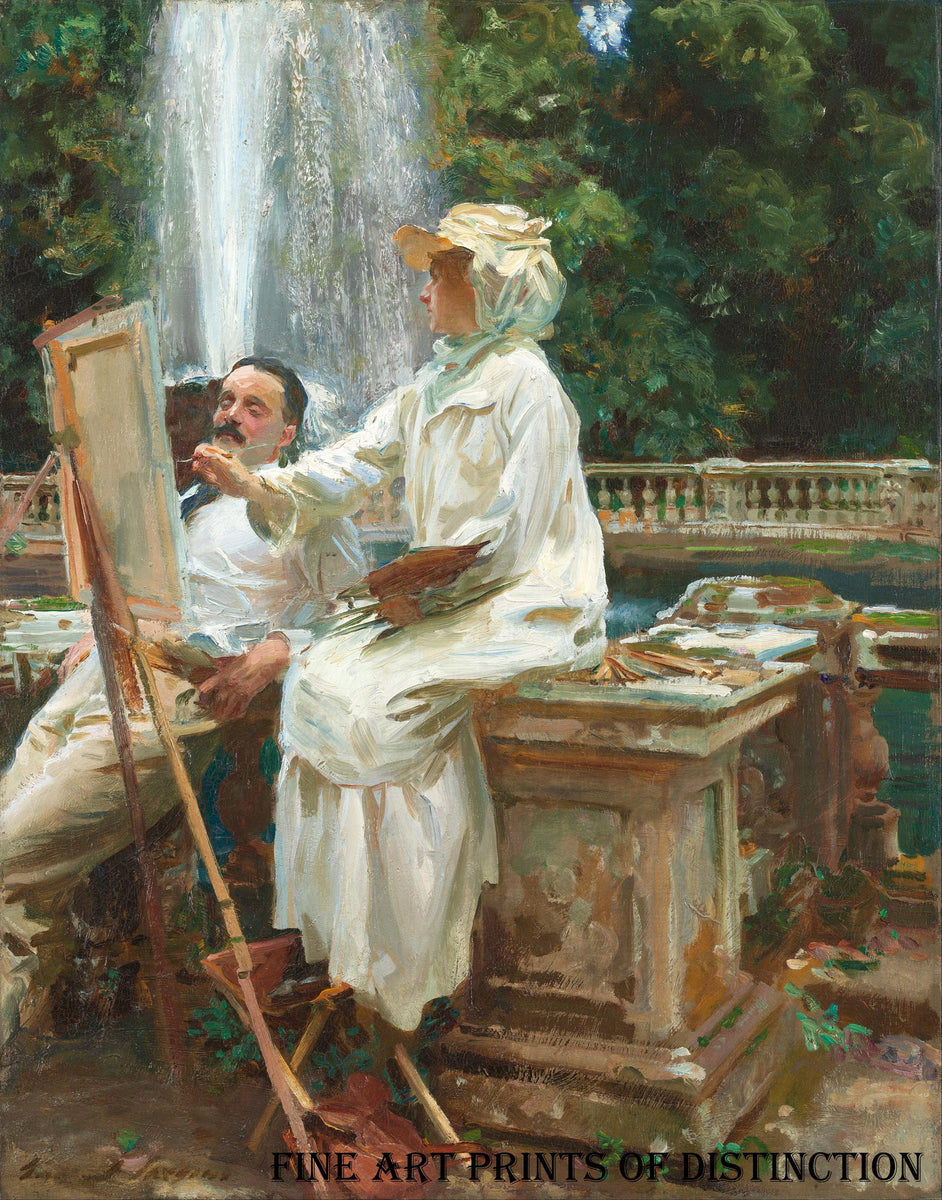 The Fountain painted by the American artist, John Singer Sargent in 1907