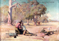 Under the Burden and Heat of the Day painted by Australian artist David Davies in 1890