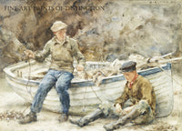Bailing a Spiller painted by English artist Henry Scott Tuke in 1922
