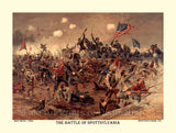 The Battle of Spottsylvania made from the original print by L. Prang and Co.