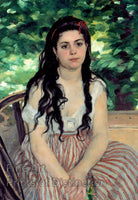 Summer or The Gypsy Girl painted by Pierre Auguste Renoir