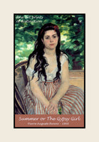 Summer or The Gypsy Girl painted by Pierre Auguste Renoir premium poster
