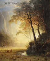 Hetch Hetchy Canyon painted by American Artist Albert Bierstadt in 1875
