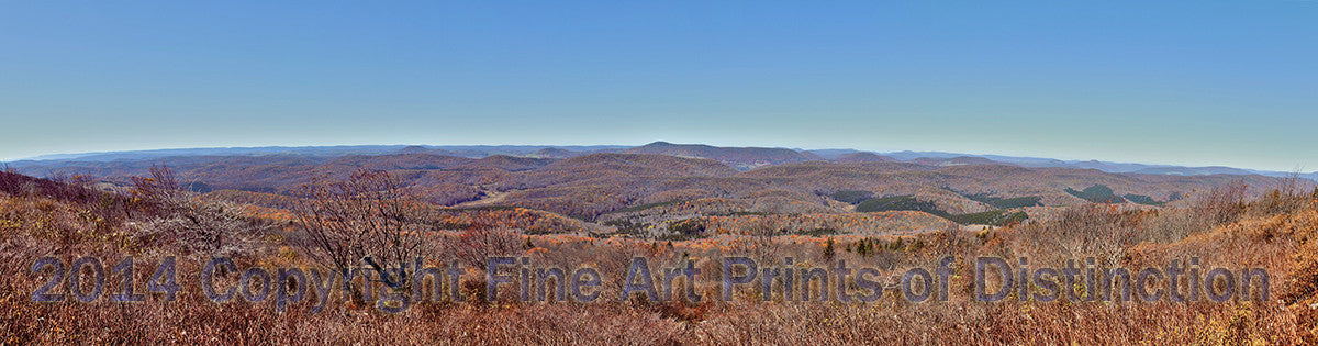 Panoramic View from Spruce Knob Mountain Art Print