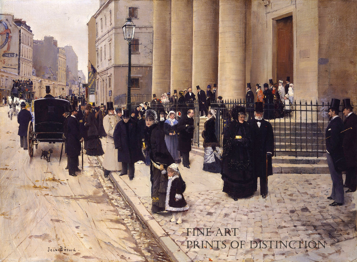 The Church of Sainte Phillippe du Roule, Paris painted by the French artist Jean Beraud in 1877