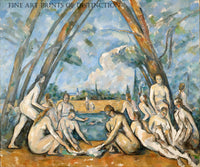 The Large Bathers painted by French artist Paul Cezanne in 1906
