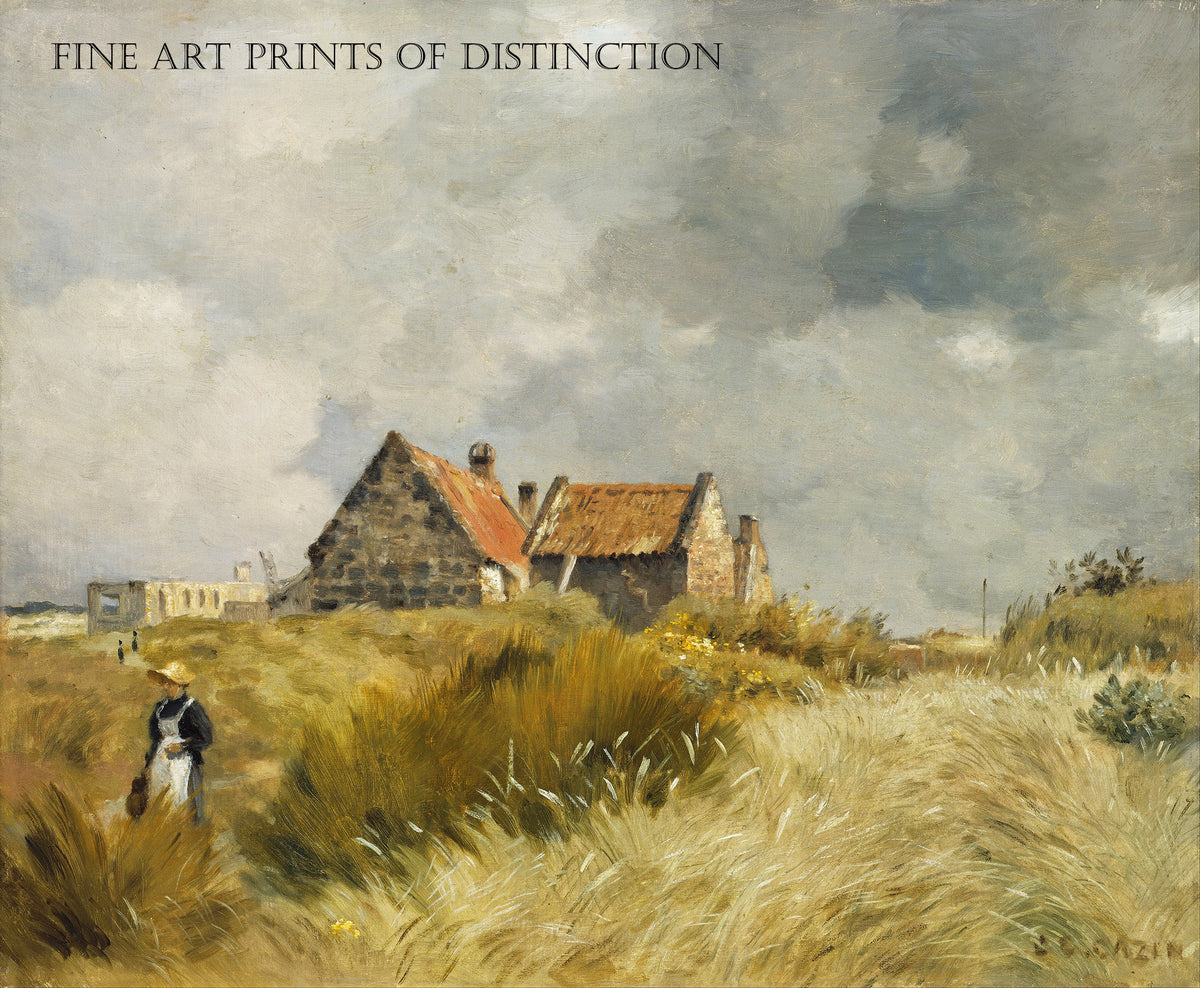 Cottage in the Dunes painted by French Artist Jean Charles Cazin around 1894
