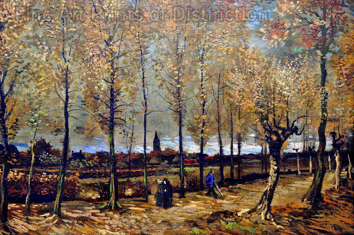 Lane With Poplars painted by Vincent Van Gogh