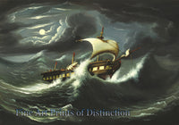 Storm Tossed Frigate by Thomas Chambers Art Print