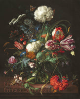 Vase of Flowers by Jan Davidz de Heem