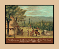 The Cheyenne Brothers Starting on their Fall Hunt painted by George Catlin Premium Poster