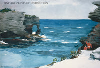 Rocky Shore, Bermuda painted by American artist Homer Winslow in 1900