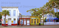 Row of Colorful Key West Shops Art Print