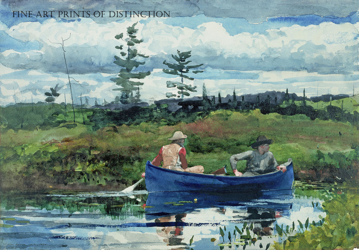 The Blue Boat painted by American artist Winslow Homer in 1892