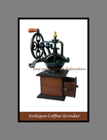 Antique coffee grinder painting finished in poster style print