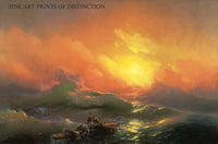 The Ninth Wave painted by the Russian marine artist Ivan Aivazovsky in 1850