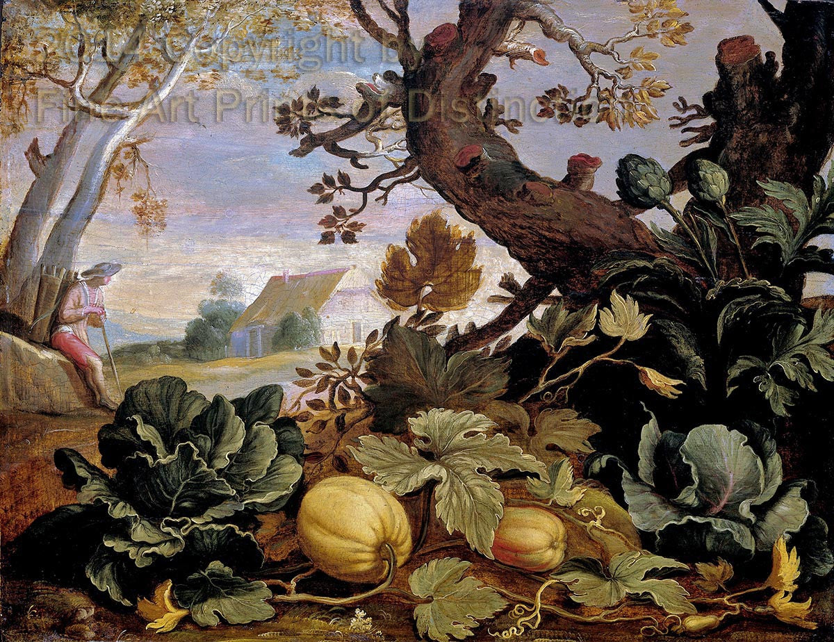 Landscape with Fruits and Vegetables in the Foreground by Abraham Bloemaert