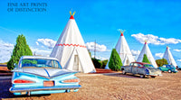 1959 Chevy Impala at Wigwam Motel on Route 66 Premium Print