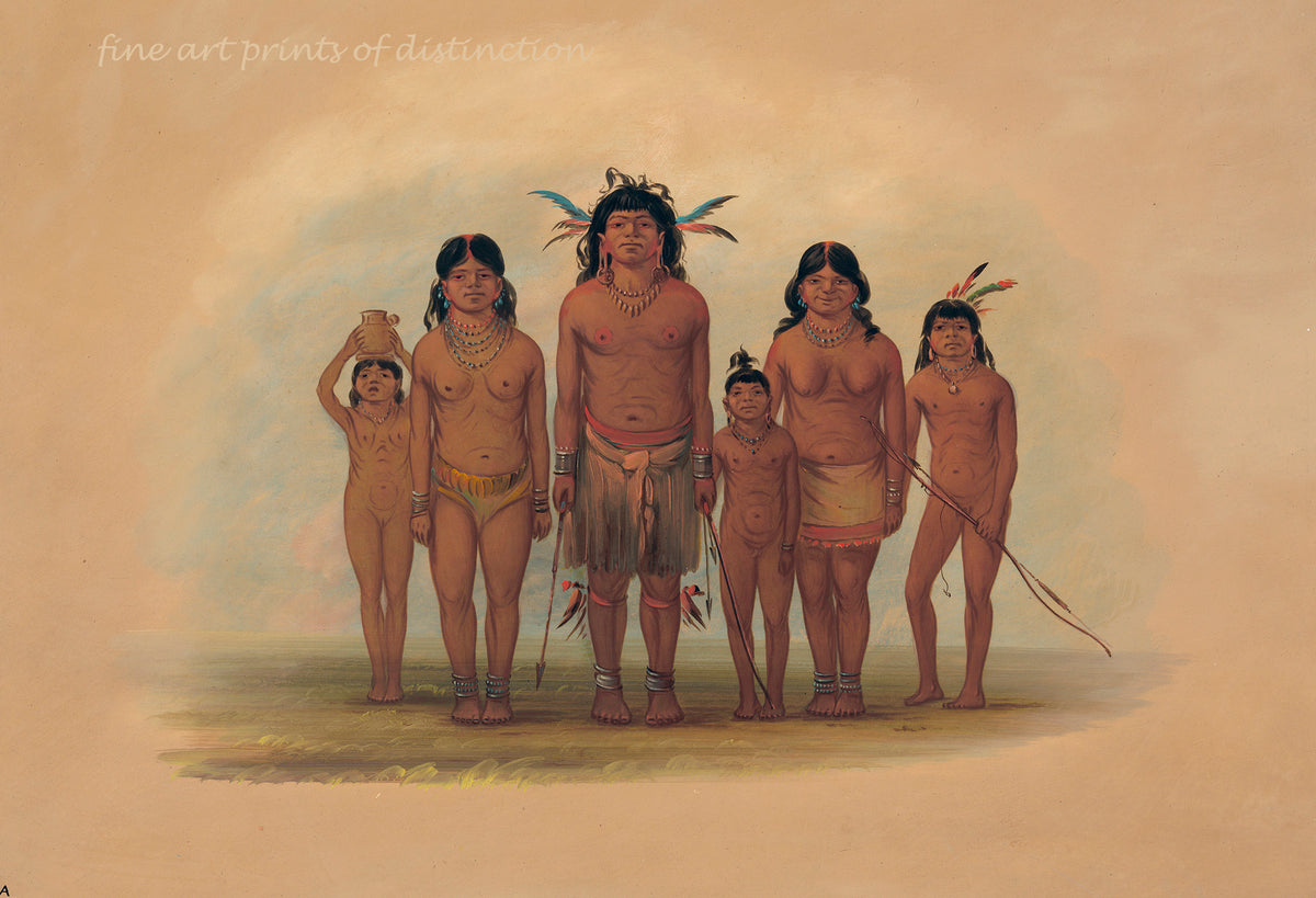A Connibo Family by George Catlin Premium Western Print