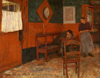 The Red Inn painted by Belgian artist Charle Mertens in 1894