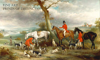 Thomas Wilkinson with the Hurworth Hounds painted by English animal artist John Ferneley in 1846