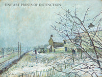 First Snow at Veneux-Nadon painted by French artist Alfred Sisley in 1878