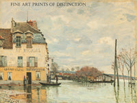 Flood at Port Marly painted by French artist Alfred Sisley in 1872