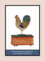 A premium poster of German Bellows Toy Rooster