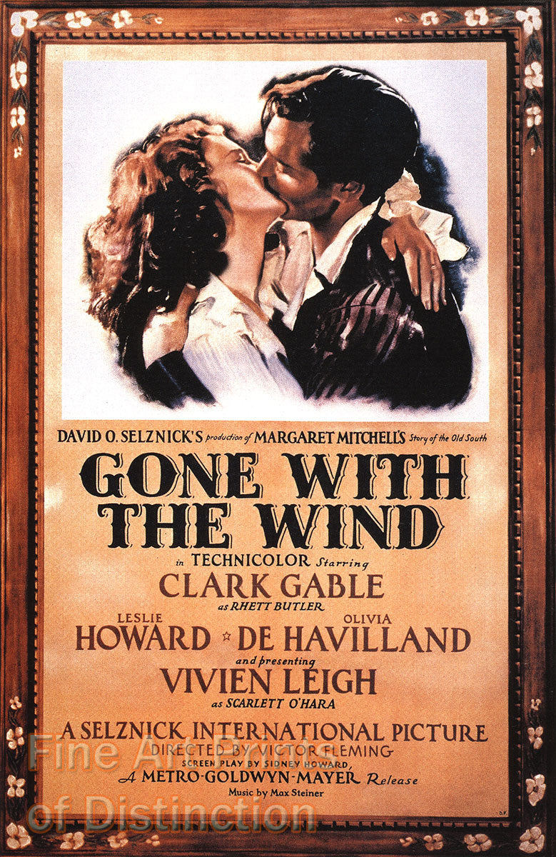 Gone with the Wind Movie Poster Print Size 24x36 NEW