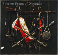 The Emblems of the Civil War painted by Alexander Pope Art Print