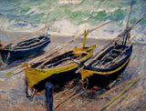 Monet Claude - Three Fishing Boats Fine Art Print