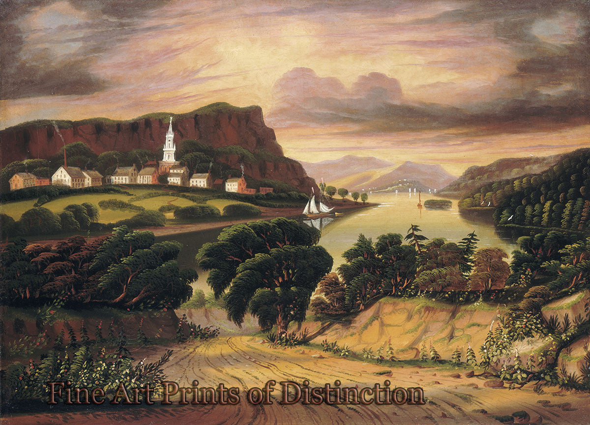 Lake George and Village of Caldwell by Thomas Chambers Art Print