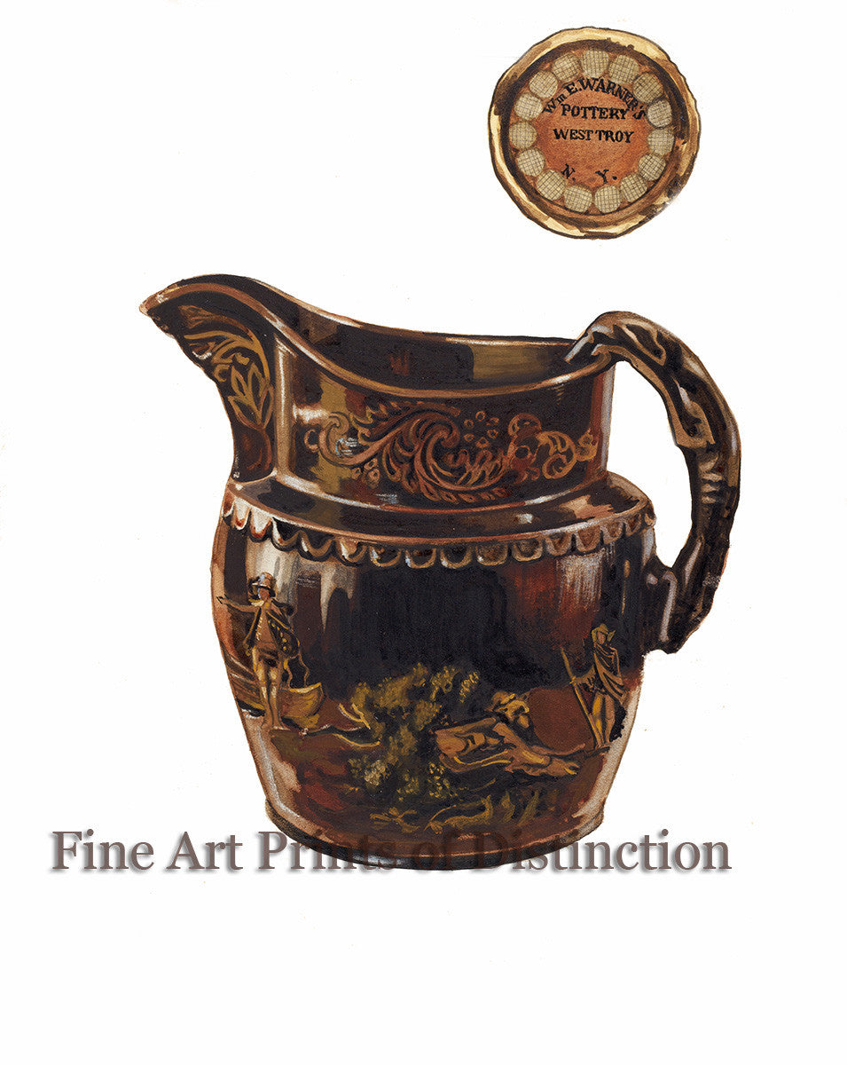 Pitcher from Index of American Design by John Fisk