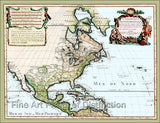 1700 Map of North America by Guillaume de L'Isle