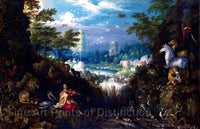 Orpheus Charming the Animals painted by Roelandt Savery Art Print