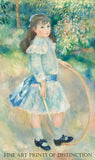 Girl with a Hoop painted by French Impressionist artist Pierre Auguste Renoir in 1885